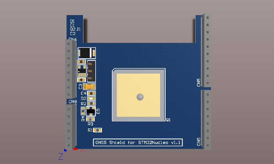 Quectel L86-M33 GPS+Glonass evaluation board for STM32Nucleo64
