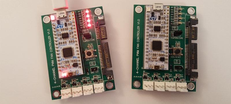 STM32 based hysteretic PWM fan controller